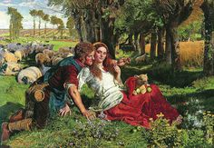 The Hireling Shepherd ( inspired by a quotation of King Lear)  painting by William Holman Hunt