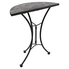 Mandalay Iron Half Moon Table Black Delivered For Only