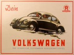 Your Volkswagen, 1952 - original vintage poster listed on AntikBar.co.uk