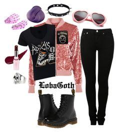 """""""#17O Outfit Of Today ☯"""" by lobagoth on Polyvore featuring moda, JULIANA, King Baby Studio, Etude House, MM6 Maison Margiela, Dr. Martens y softgrunge"""