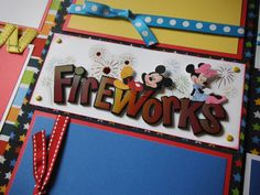 Disney Fireworks Parade Premade Scrapbook Pages for your Family's Vacation