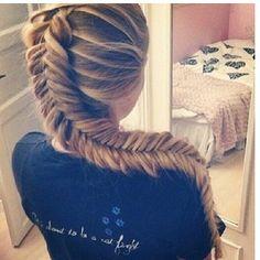 Dutch Fishtail Braid! Reminds me of Rapunzel