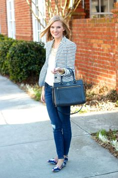 Life with Emily | a life + style blog : Striped Blazer
