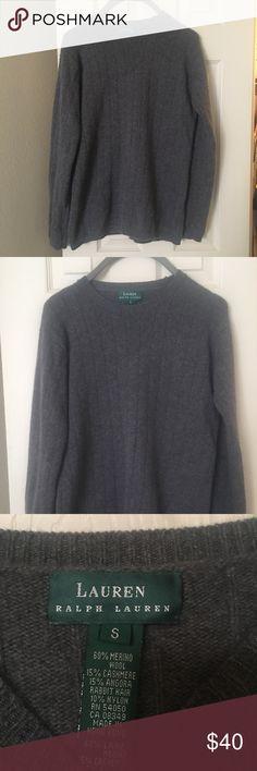 Lauren Ralph Lauren Sweater Gorgeous gray comfy sweater by Lauren Ralph Lauren. EUC Lauren Ralph Lauren Sweaters