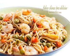 Fideos Chinos Tres Delicias, Si no encuentras los fideos chinos puedes usar unos espaguetis o incluso unos tallarines, pero no dejes de prepararlos que quedan riquísimos. A la cocina!!!!
