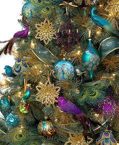 Holiday Lane Christmas Ornaments, Regal Peacock Tree Theme - Christmas Ornaments - Holiday Lane - Macy's