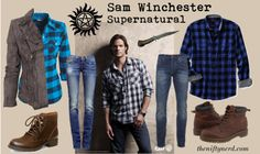 Time for some closet cosplay. Raid your wardrobe and put together these Sam & Dean Winchester everyday cosplay outfits. Supernatural Halloween Costumes, Supernatural Costume, Supernatural Inspired Outfits, Supernatural Fashion, Casual Cosplay, Cosplay Outfits, Cosplay Costumes, Cosplay Ideas, Geek Chic Outfits
