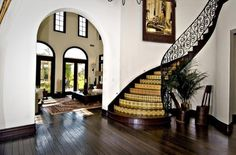 The entryway of the home Khloe Kardashian reportedly bought for $7.2 million.