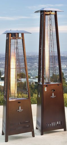 Instantly add toasty comfort and stylish ambiance to your outdoor setting with our Capri Patio Heater. - Patio Heater - Ideas of Patio Heater Outdoor Heaters Patio, Propane Patio Heater, Outdoor Fire, Outdoor Living, Outdoor Decor, Outdoor Heating Ideas, Outdoor Restaurant Patio, Diy Fire Pit, Fire Pit Backyard