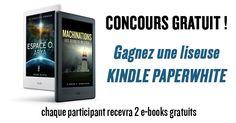 Jeu concours sans obligation d'achat où tous les participants remporteront des livres numériques gratuits, et où vous pourrez être tiré au sort pour gagner une liseuse Kindle Paperwhite 6''