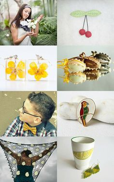 About green and yellow by Jolanta Vilcinskiene on Etsy--Pinned with TreasuryPin.com