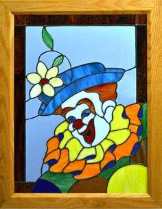Google Image Result for http://stainedglassbyhubert.files.wordpress.com/2012/08/set-121-1-male-clown-20-hi-15-wide-in-oak-frame-overall-size-22-5-hi-18wide.jpg