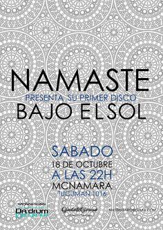 ► Namasté presenta su disco!!!! octubre 2014 #prensa