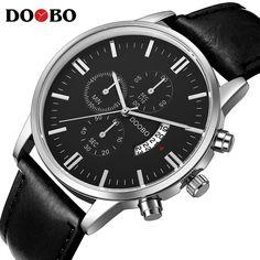 ed4d8d63108 Quartz Watch DOOBO Mens Watches Top Brand Luxury Sport Watch Men Fashion Man  Wristwatches Leather Strap Relogio Masculino      MensWatches