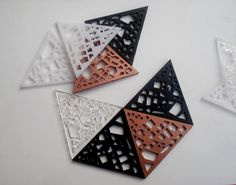 Shop for on Etsy, the place to express your creativity through the buying and selling of handmade and vintage goods. Laser Cut Acrylic, Hanging Art, Laser Cutting, Beams, Origami, Coasters, Carving, Cool Stuff, Unique Jewelry