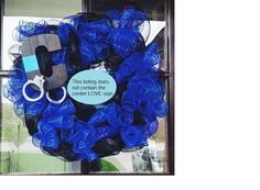 Thin Blue Line Wreath by LEOwreaths on Etsy