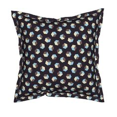 Serama Throw Pillow featuring Cubic Summer Nights by Cheerful Madness!! by…