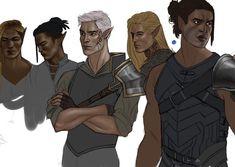 Fenrys, Connal, Rowan, Gavriel, Lorcan