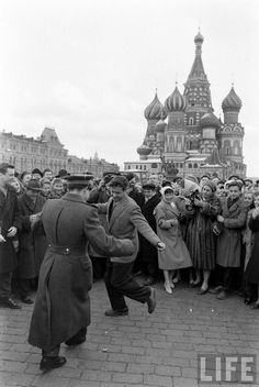People are celebrating the first flight of Yuri Gagarin into the space.