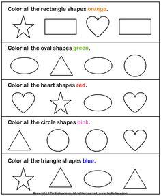 Identify Shapes Worksheet1