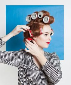 How To Rock 4 Awesome Vintage 'Dos... using soda cans, foam rollers, rag curls, & finger waves! #refinery29