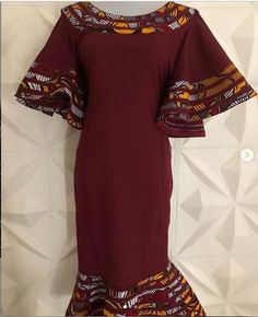 Image of Ankara Patch sunshine flair dress
