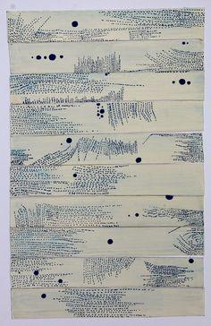 "workman: "" vjeranski: conversation with stars shane drinkwater "" Grafik Art, Graphic Score, Art Graphique, Mark Making, Art Plastique, Embroidery Art, Fabric Art, Textures Patterns, Textile Art"