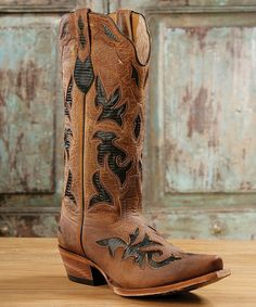 Love this Johnny Ringo Boots Black Lizard Thunder Cat Leather Cowboy Boot by Johnny Ringo Boots on #zulily! #zulilyfinds