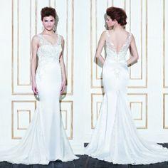 Beach Wedding Dress 2014 Floor-length Sweetheart  Satin Mermaid Wedding Dress Gowns Famous DesignerFashionable Free Shipping