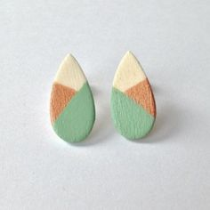 Painted Wood Earrings