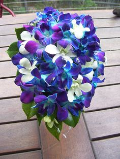 blue purple orchid wedding bouquet | Blue Wedding Flowers | Flickr - Photo Sharing!