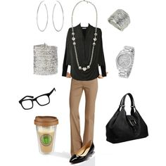 Perfect for work, minus the fake glasses (at least for now...)