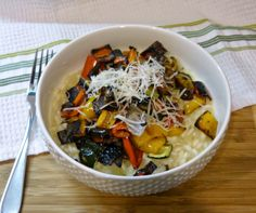A Squared: What's For Dinner Wednesday: Lemon Parmesan Risotto with Roasted Vegetables
