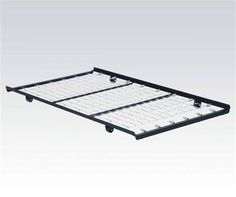 Metal Twin Roll-Out Metal Trundle Bed Frame w/Link Spring