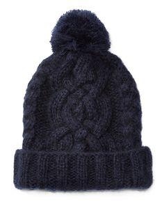Chunky Aran-Knit Hat - Polo Ralph Lauren New Arrivals - RalphLauren.com