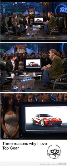 Three reasons why I love Top Gear...had to think about this one for a bit