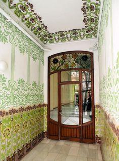 Interior of house in Barcelona - Floridablanca -  Casa Ramon Jansà, 1908, Architect: Miquel Madorell i Rius (by Arnim Schulz)