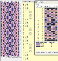 24 cards, 3 colors, repeats every 12 rows, GTT