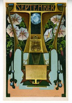 1905 Art Nouveau Postcard Astrological Sign September 9 | eBay  --what's your sign?