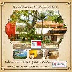Situado no Rio de Janeiro, o Museu Casa do Pontal é considerado o maior e mais significativo museu de arte popular do país. Seu acervo - resultado de quarenta anos de pesquisas e viagens por todo país do designer francês Jacques Van de Beuque - é composto por cerca de 8.000 peças de 200 artistas brasileiros, produzidas a partir do século XX.  Gostou? Então vem curtir!  Compre agora: www.ingressocomdesconto.com.br  Televendas: (0xx11) 4412-5454