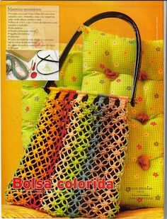 Macrame Bag - LOVE!:) - great site too:)  macrame projects and tutorials!