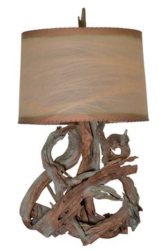 Driftwood lamp.  My mom still has one from the 60's.