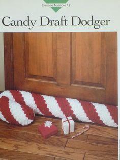 Draft Stopper pattern Vanna's 684 by on Etsy, Crochet Home Decor, Diy Crochet, Crochet Doilies, Crochet Ideas, Crochet Patterns, Draft Stopper, Door Stopper, Christmas Knitting, Crochet Christmas
