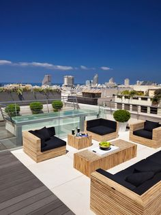 Sleek Patio | Contemporary Design | Rooftop Terrace | Outdoor Patios | NYC Condo