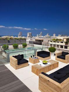 Sleek Patio | Contemporary Design | Rooftop Terrace | Outdoor Patios | NYC Condo