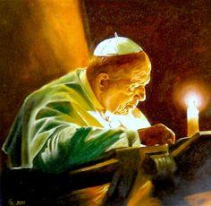 Papa João Paulo II, pelo desenhista Henryk Górecki