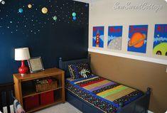 Интерьер детской в космическом стиле. Фото 38