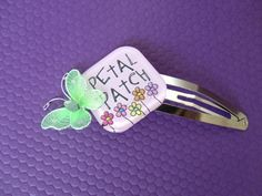 Spring Butterfly Petal Patch Cute Hair Clip by AtomicCatCreations, $4.00