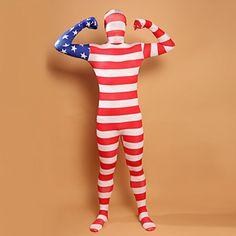 Stars and Stripes USA Flag Costume Flag Lycra Full Body Zentai Costume Stars and Stripes USA Flag Lycra Full Body Zentai Cosplay Costume