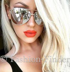 Big-SEXY-Large-Mirror-Metal-Aviator-Fashion-viVieNNe-Design-Sunglasses-Glasses-L